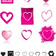 Royalty-Free Stock Photo: Heart set