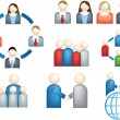 Teamwork business icon — Stock Photo #2147571
