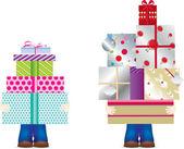 Pila de regalo — Foto de Stock