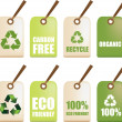 Eco recycle labels — Stock Photo