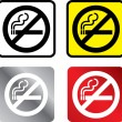 Stock Photo: No smoking sign