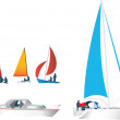 Stock Photo: Sailing boats