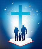 Family christianity — Stock Photo