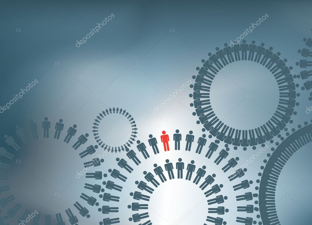 ILLUSTRATION OF TO SHOW TERAMWORK FORMING COGS  Stock Photo #2150232