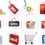 Retail icon set — Stock Photo