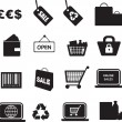 Retail icon set — Stock Photo