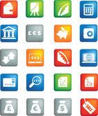Money icon button set — Stock Photo