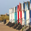 Stock Photo: Southwold beach huts