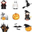 Halloween illustration set - Stock Photo
