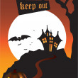Halloween scene - Stockfoto
