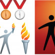 Olympic icons — Stock Photo
