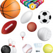 Sports balls set — Stock Photo