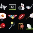 Stock Photo: Sports icon set