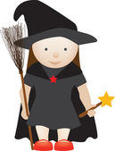 Cute witch — Stock Photo