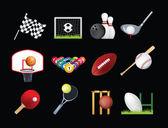 Sports icon set — Stock Photo