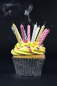 Cupcake on black — Stock Photo