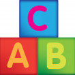 Stock Photo: Letter building blocks