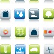 Постер, плакат: Eco environment icon set