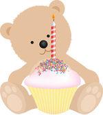 Happy birthday bear — Stock Photo