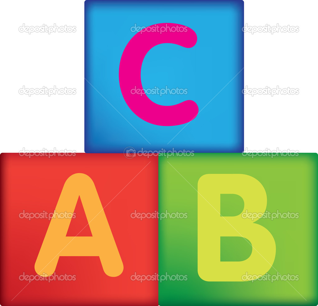 Childs letter building blocks on a white background — Stock Photo #2199464