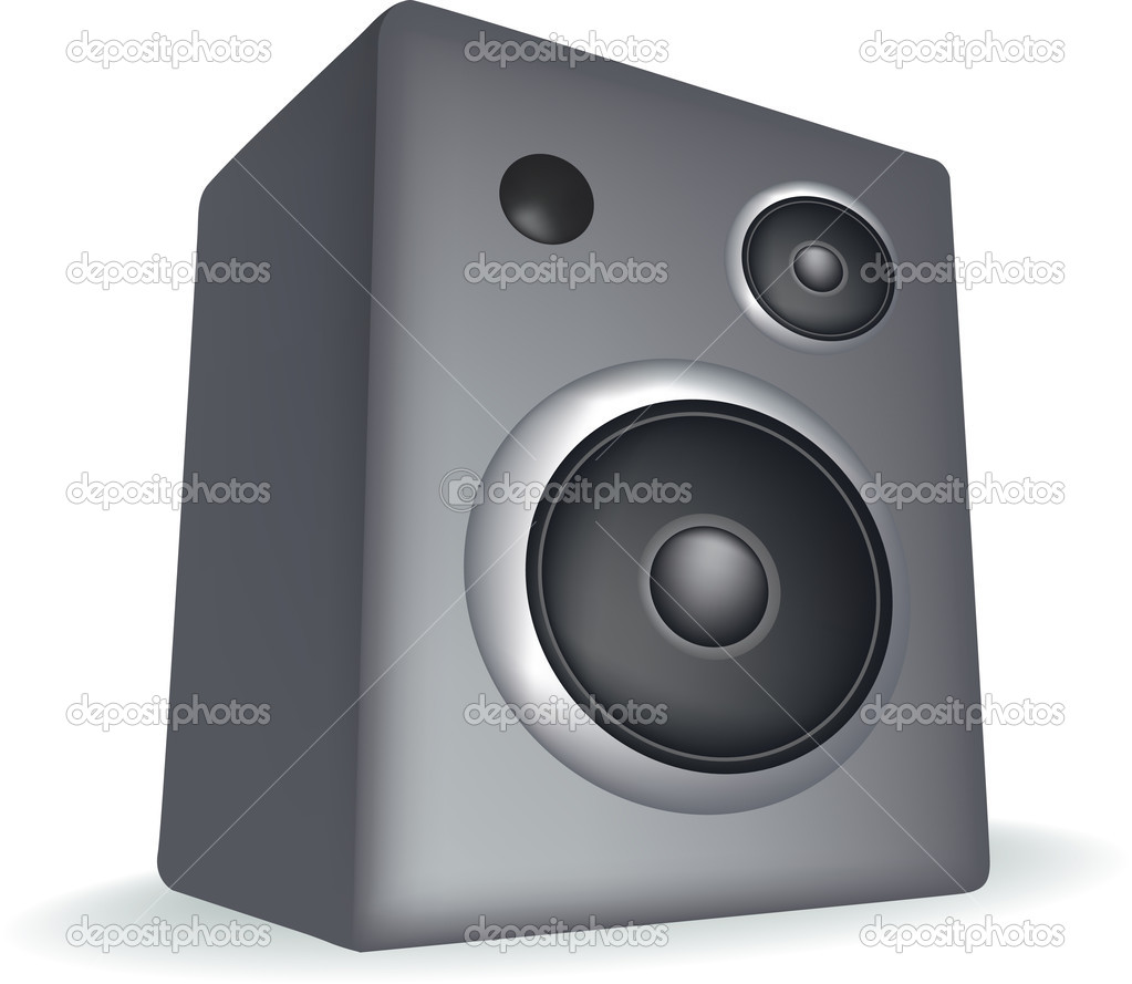 Speaker illustration simple detailed style, on a white background  Stock Photo #2199674