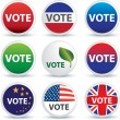 Vote buttons or badges - Stock Photo