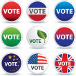 Stock Photo: Vote buttons or badges
