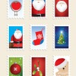 Royalty-Free Stock Photo: Set of christmas stamps