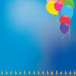 Balloon birthday background — Stock Photo #2206022