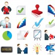 Stock Photo: Business deals icon set