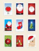 Série de timbres de noël — Photo