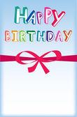 Všechno nejlepší k narozeninám karta — Stock fotografie