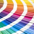 Coloured swatches book - Stockfoto