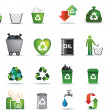 Eco icon set - Stock Photo