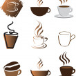 Coffee illustration set - Stock Photo