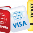 Stock Photo: Travel documents