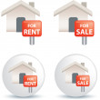 For sale and rent symbol — Stock Photo
