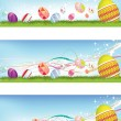 Easter egg banners — Stock Photo