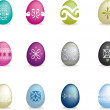 Intricate easter egg set 2 — Stock Photo