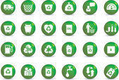 Eco icon set — Stock Photo