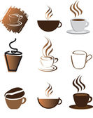Coffee illustration set — Stock Photo