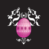Easter egg floral image — Stock Photo
