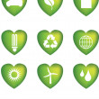 Eco icons heart — Stock Photo