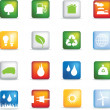 Eco icons realistic — Stock Photo