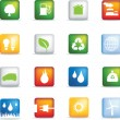 Stock Photo: Eco icons realistic