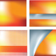 Orange abstract set of 4 — Stock Photo