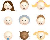 Family face icon modern — Stock Photo