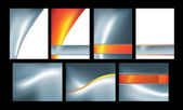 Silver fire abstract set of 7 — Stock Photo