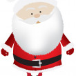 Santa  big head isolated — Stock Photo