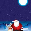 Santa night scene — Stock Photo #2238379